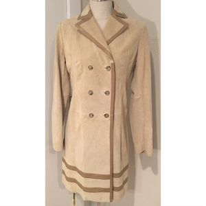 Gorgeous Banana Republic Suede Leather Trench Coat